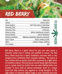 Back of Collector Seed Card by Native Seed - Red Berry